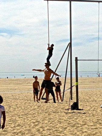 Santa Monica Pier: Muscle Beach