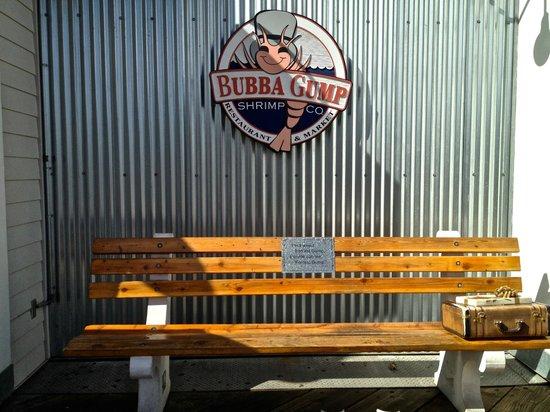 Santa Monica Pier: Forest Gump Bench
