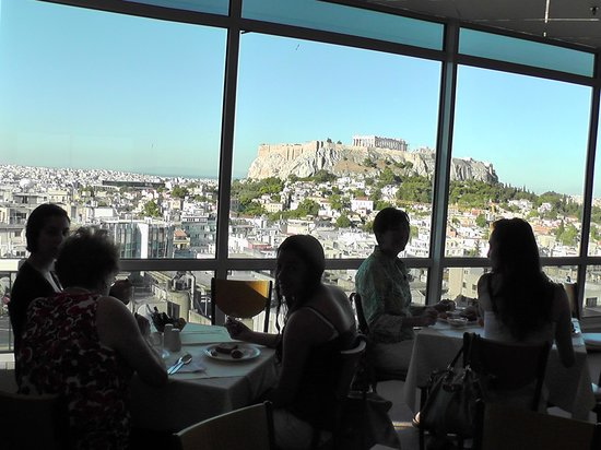 Christianakis Private Transfers & Day Tours : View from hotel room restaurant