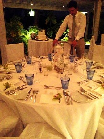 Carlisle Bay Antigua: wedding dinner at indigo