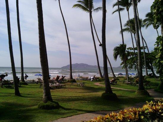Hotel Tamarindo Diria: Der Palmengarten mit Zugang zum Meer