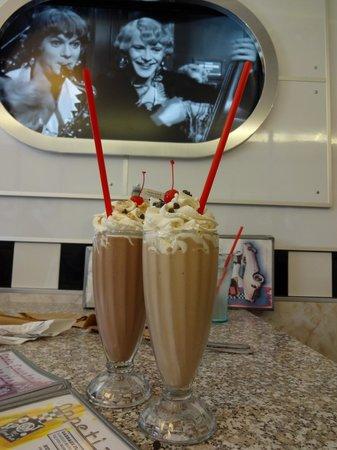 """Corvette Diner: """"Chocolate Elvis"""" milkshake - PB, Banana, Marshmallow AND chocolate"""