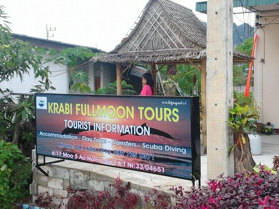 Krabi Fullmoon Tours: Our outdoor sign