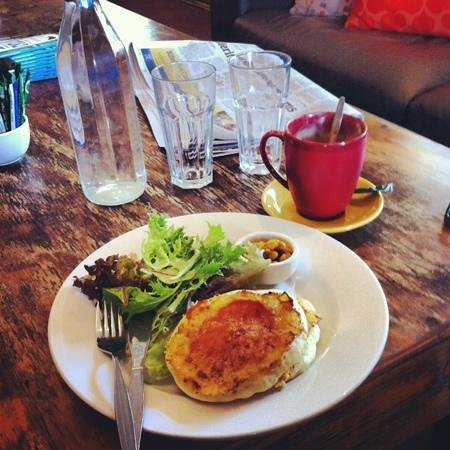 Blackbird Cafe: Potato pancake with corn salsa