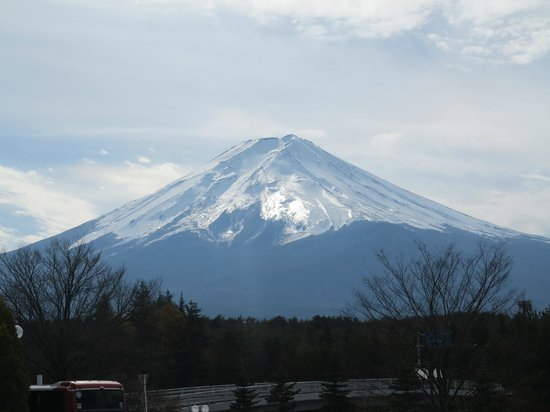 The best view we had of Mt.Fuji in front of a hotel.