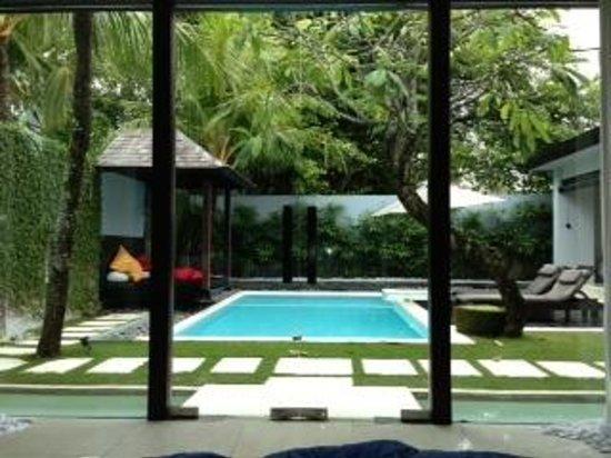 Kembali Villas: good morning Bali from our bedroom!