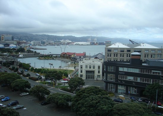 View from 8th floor room, Amora Hotel Wellington