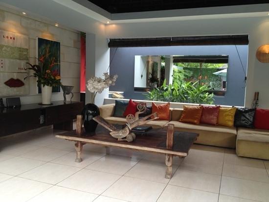 Kembali Villas: The sitting room pavillion