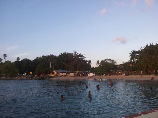 Bago's Beach Bar:                                     View from Coco Reef Resort