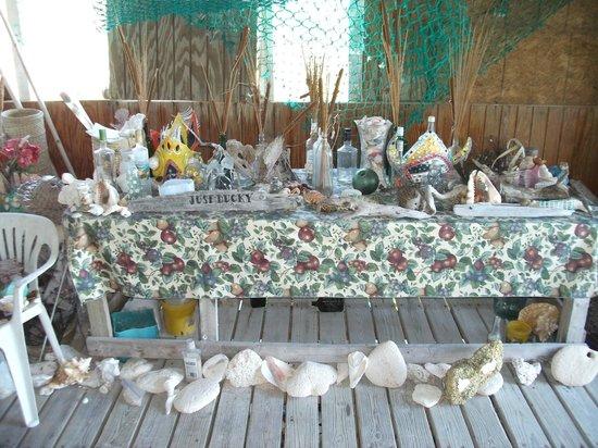 Northside Inn Restaurant & Bar:                   Beach finds from guests