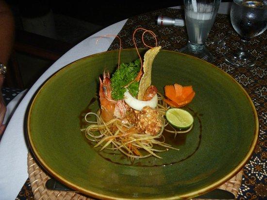 Surya Shanti Villa: Peanut Crusted Shrimp
