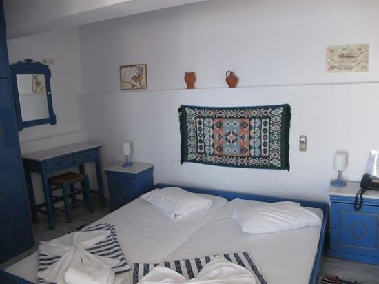 My room at Scirocco Apartments at Santorini