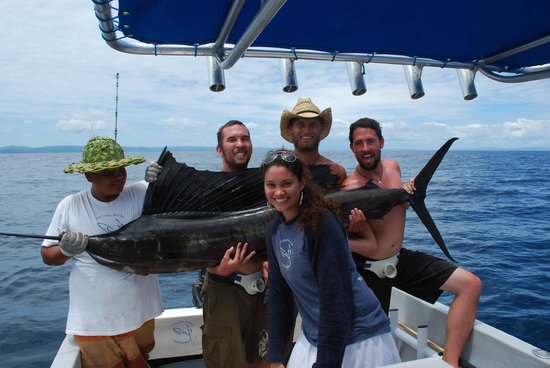 San Juan del Sur Surf and Sport : hooked several sailfish, but brought this beauty to the boat