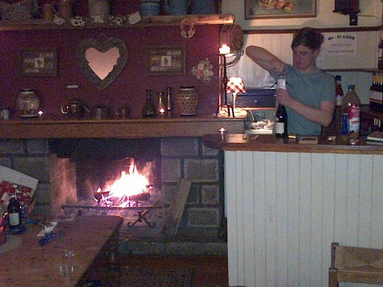 Chalet Ste. Marie: Lounge fire and bar