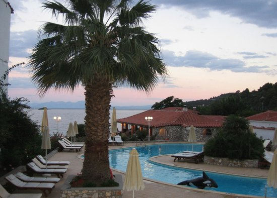 Achladias, Greece: Pool area