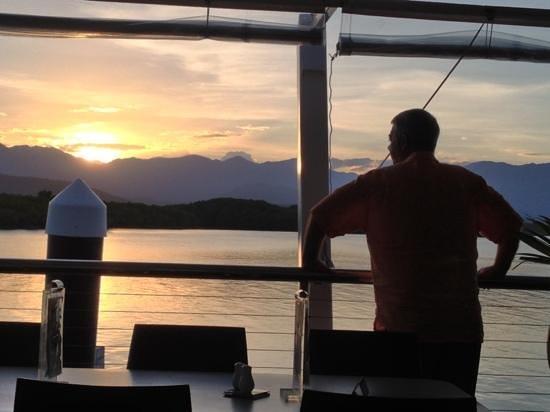 Tin Shed: at sunset