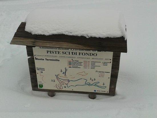 Monte Terminillo, Italy: Cartello Amministrazione Provinciale