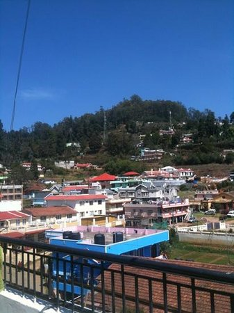 Maruthi Cottages: view from balcony room 301