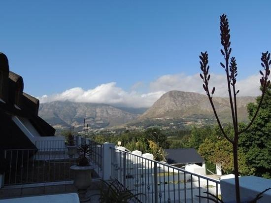 Le Franschhoek Hotel & Spa: View from the balcony