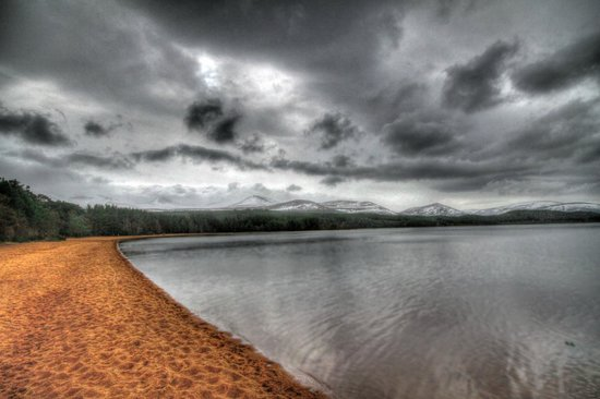 The Craigerne House Hotel: Lake Morlich near Cairngorm mouton