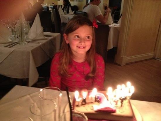 Leonardo's La Piazza: one happy birthday girl!