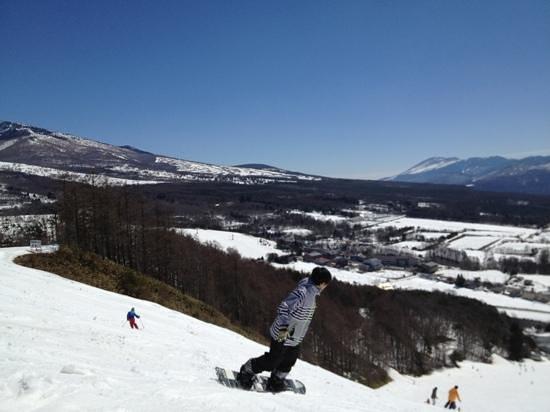 Sugadaira Kogen Ski Area : 多くのスノーボーダーで賑わう