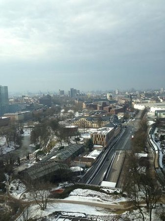 Radisson Blu Hotel, Hamburg: the view from the 22nd floor