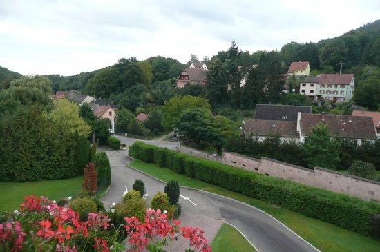 Hotel des Vosges: Vue de notre chambre sur la campagne alsacienne