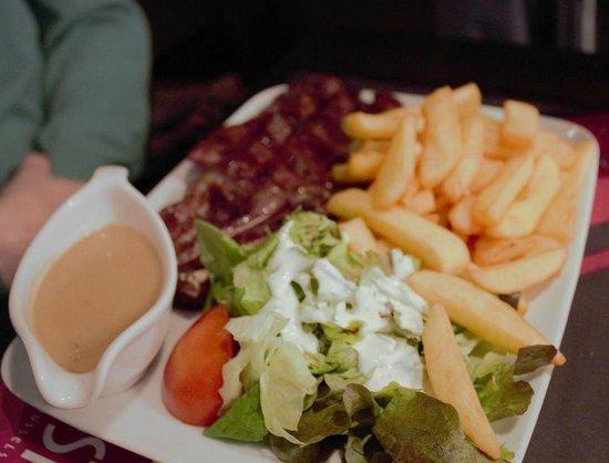 Boston Steak House: Steak and fries