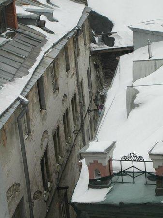 Hotel Telegraaf: Un mañana nevada desde mi habitación