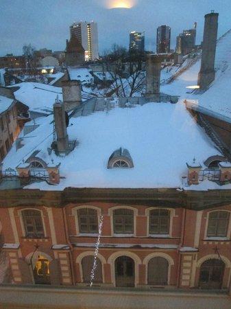 Hotel Telegraaf: Vista desde la habitación al atardecer