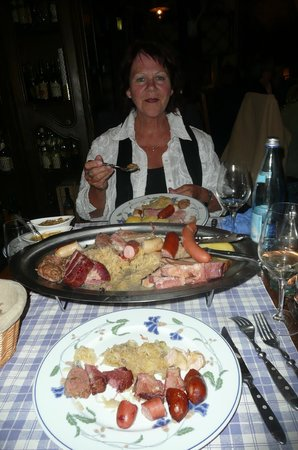 Hôtel Chez Norbert : Quel souper...quelle choucroute...