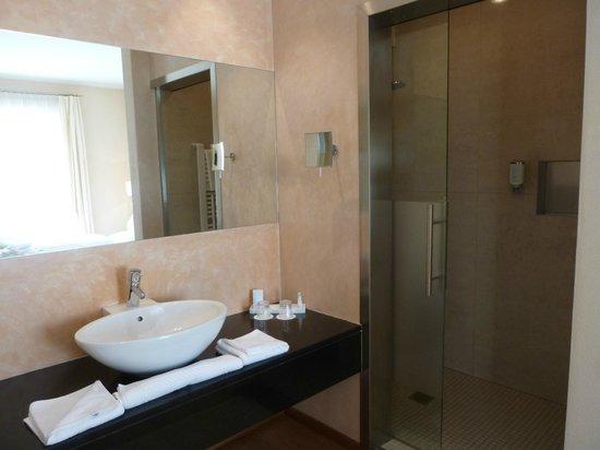 Hotel Muchele: Bad mit Dusche rechts