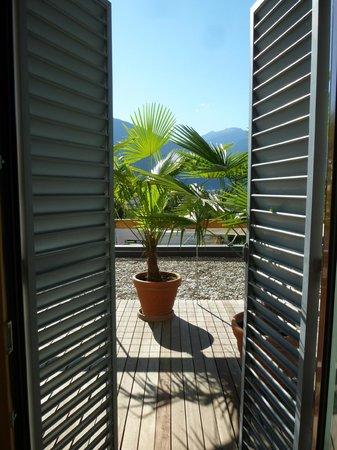 Hotel Muchele: Blick vom Zimmer auf die Terrasse