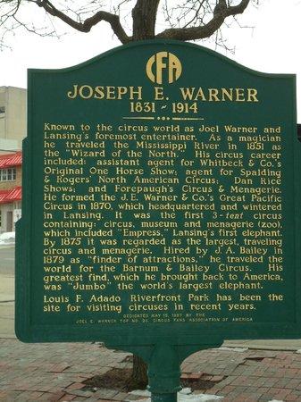 Joseph E. Warner Historical Marker