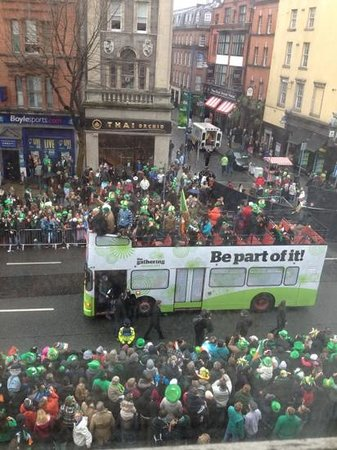 The Westin Dublin : St Patricks Day Parade thru our window