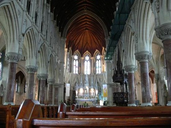 Cobh Cathedral: the interior of catherderal