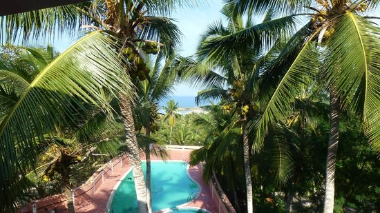 The Kovalam Resort:                   Nice view but you will not use the pool area