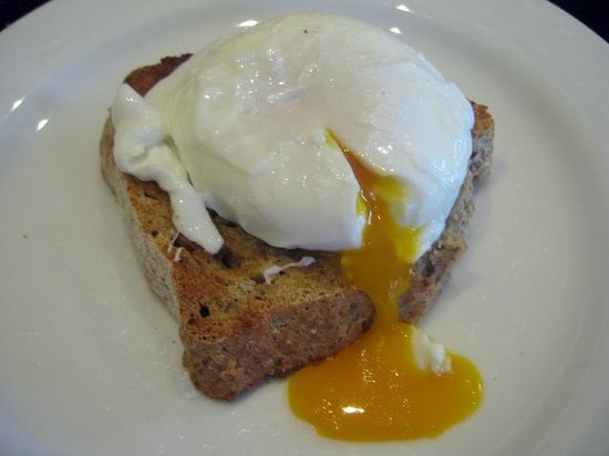 The Dulaig: Beautiful poached egg from one of our free range Barnevelder hens