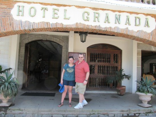 Hotel Granada: Entrance (photo taken by staff)