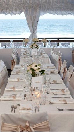 Sunshine Beach Surf Life Saving Club: Wedding marquee on the ocean deck