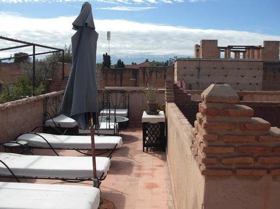 Riad Assalam : terrasse(2ème étage = salon en terrasse + 3ème étage= solarium)