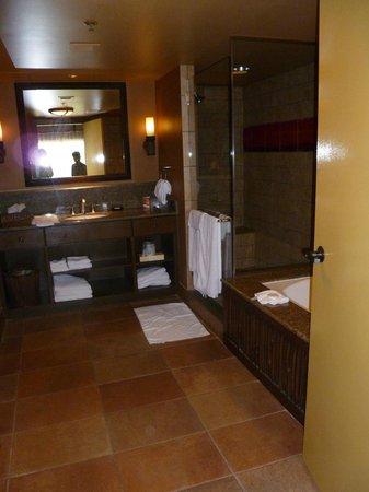 Disney's Animal Kingdom Villas - Kidani Village:                   Master bathroom