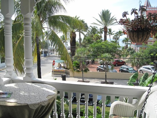Southernmost Point Guest House:                   View from porch outside suite with view Florida Straits . . .