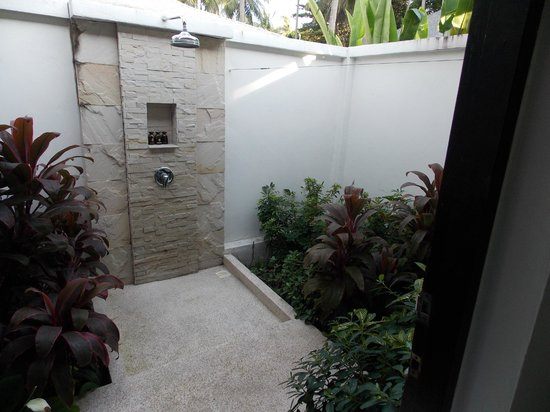 The Racha: Our outside shower and garden