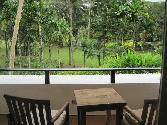The Pearl Resort: garden view room patio