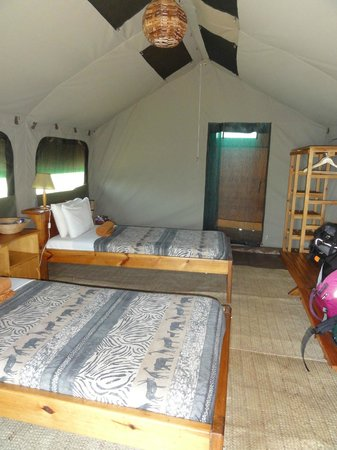 Ngamba Island Tented Camp: inside tent