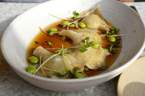Edamame dumplings @ True Food Kitchen