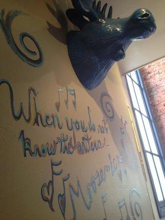 Blue Moose Restaurant & Cafe: decor at Blue Moose. Fun!