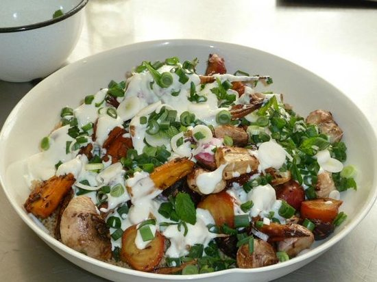 The Agrarian Kitchen:                   Roast root vegetables